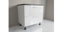 900mm 2 Drawer Base Cabinet with Top Internal Drawer for Kitchen