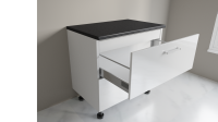 900mm 2 Drawer Base Cabinet with Top Internal Drawer Example One
