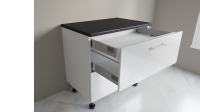 900mm 2 Drawer Base Cabinet with Top Internal Drawer Example Two