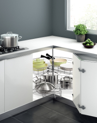 270 Revo Accessory Example Image for Kitchen Corner Cabinet