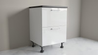 600mm 2 Drawer Base Cabinet with Top Internal Drawer for Kitchen