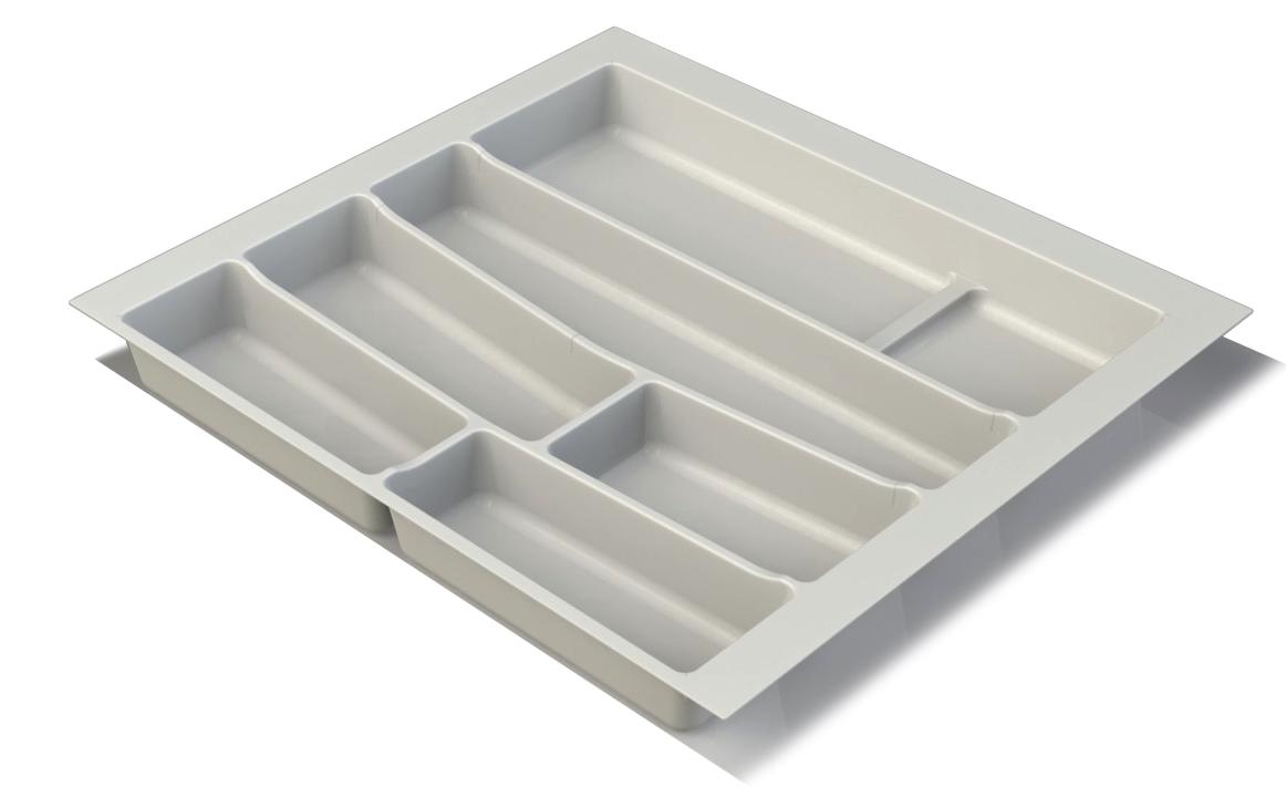 Premium Matte White Cutlery Insert for 600mm wide kitchen drawer