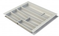 Premium Matte White Cutlery Insert for 600mm wide Drawer