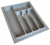 400mm Plastic Grey Cutlery Insert - Shortened