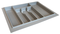 600mm Plastic Grey Cutlery Insert - Shortened