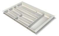Premium Matte White Cutlery Insert for 800mm wide Drawer