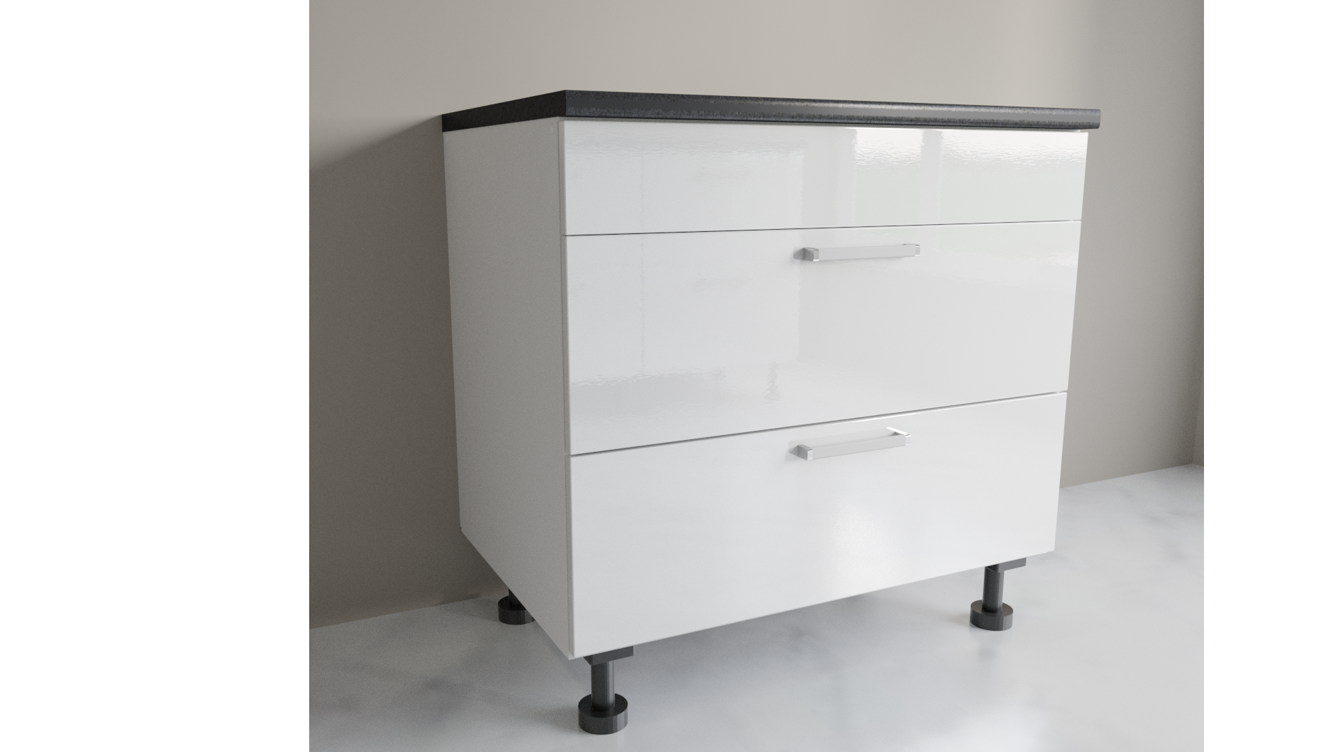 900mm Wide 2 Drawers Sink Base Cabinet