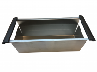 Stainless Steel Draining Basket with Rubber Handles - 984001