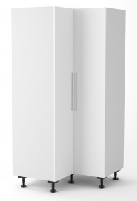 Berlin White Corner Pantry Cabinet 1050mm by 1050mm (45 degree