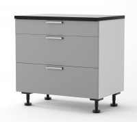 Athens - 900mm wide Three Drawer Base Cabinet