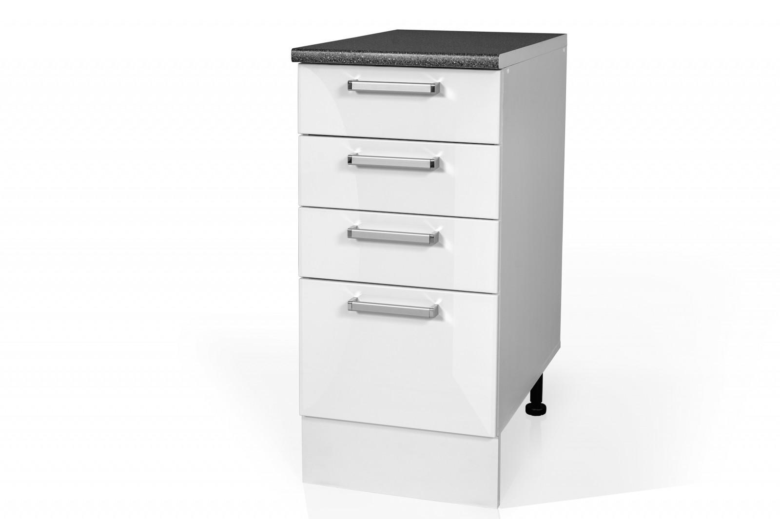 High Gloss White Base drawer cabinet for kitchen