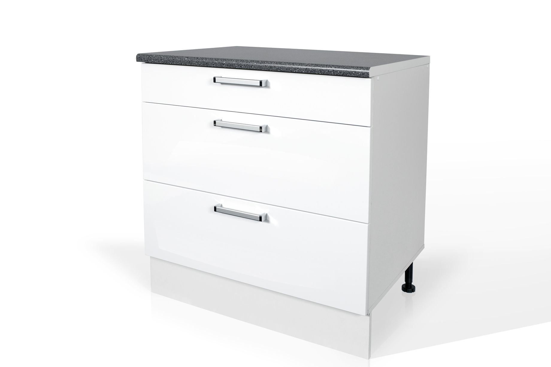 High Gloss White Base drawer cabinet S80SZ3 for kitchen