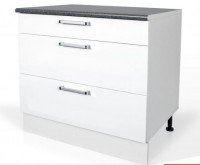 High Gloss White Base drawer cabinet S90SZ3A