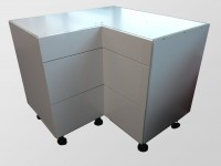 High Gloss White Corner drawer cabinet S100/100SZ3A Full Cabinet