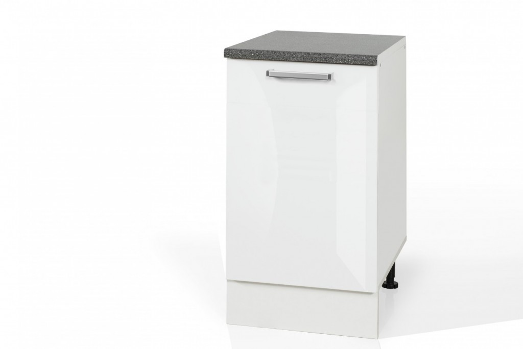 High Gloss White Single Door Base cabinet S50 for kitchen