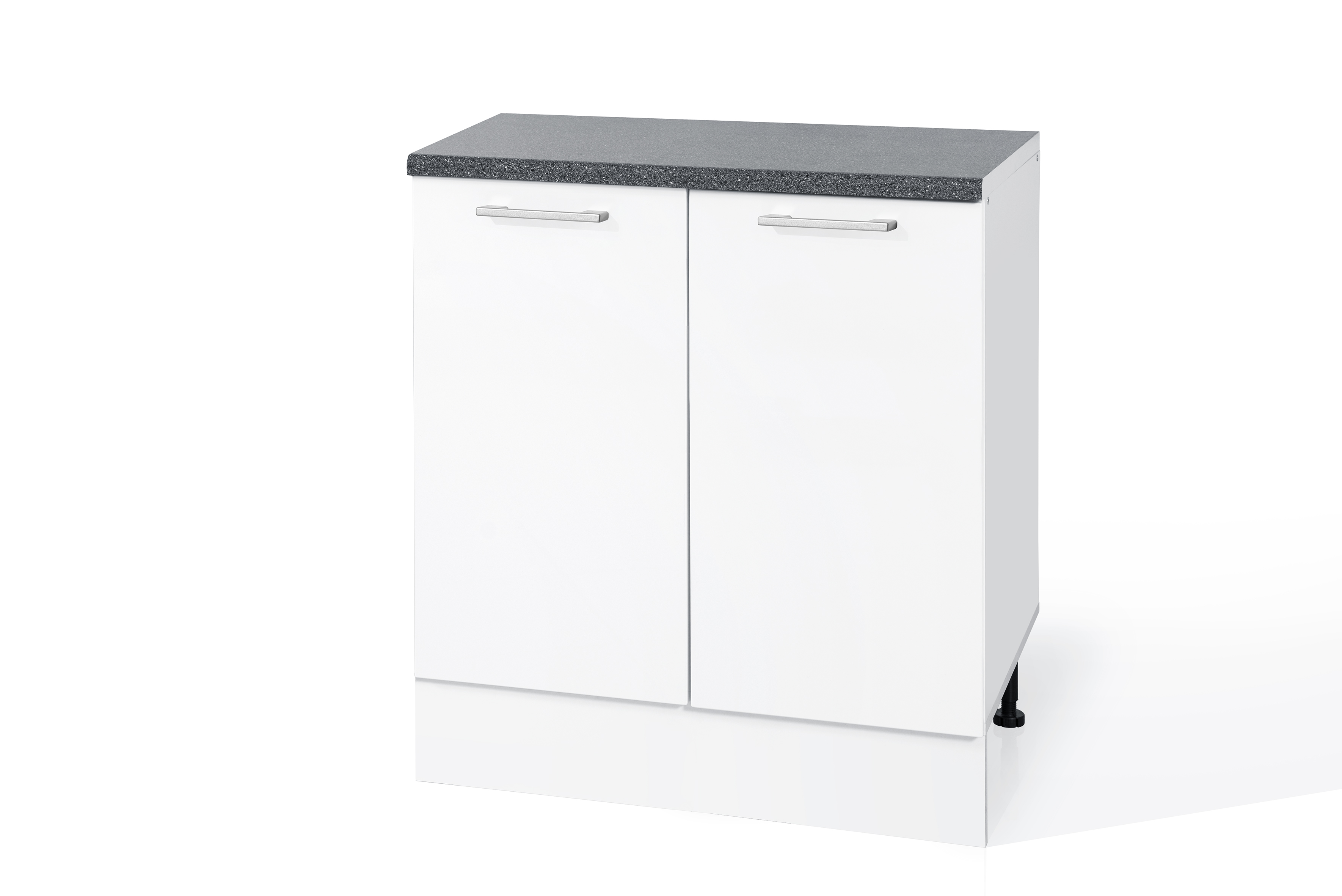 PVC Satin White Double Door Base cabinet S80 for kitchen