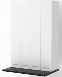 Berlin White Matte Shallow On Bench Pantry Cabinet 900mm