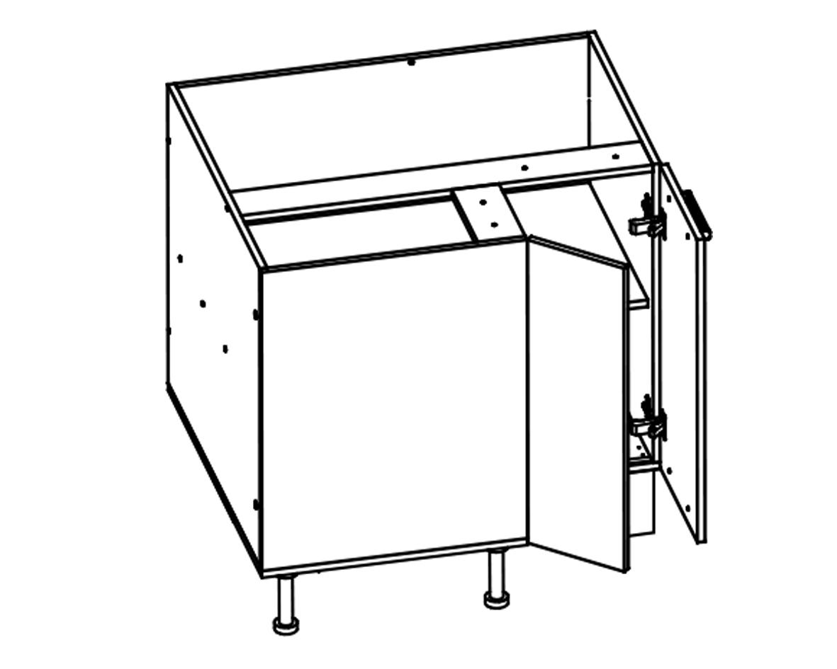 Body Diagram for Corner cabinet S90/80 for Kitchen