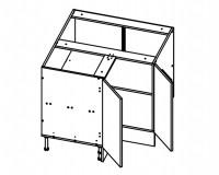 Body Diagram for Corner Cabinet S90/90 for Kitchen