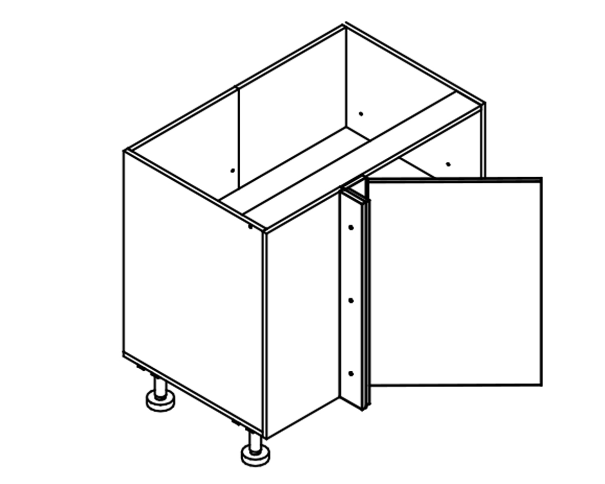 Body Diagram for Corner cabinet S90NP for Kitchen
