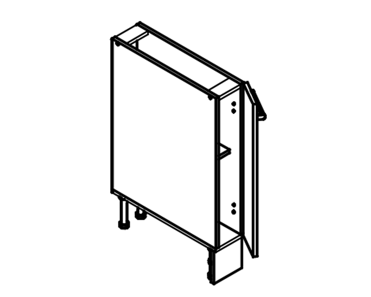 Body Diagram for Base cabinet S15 for Kitchen