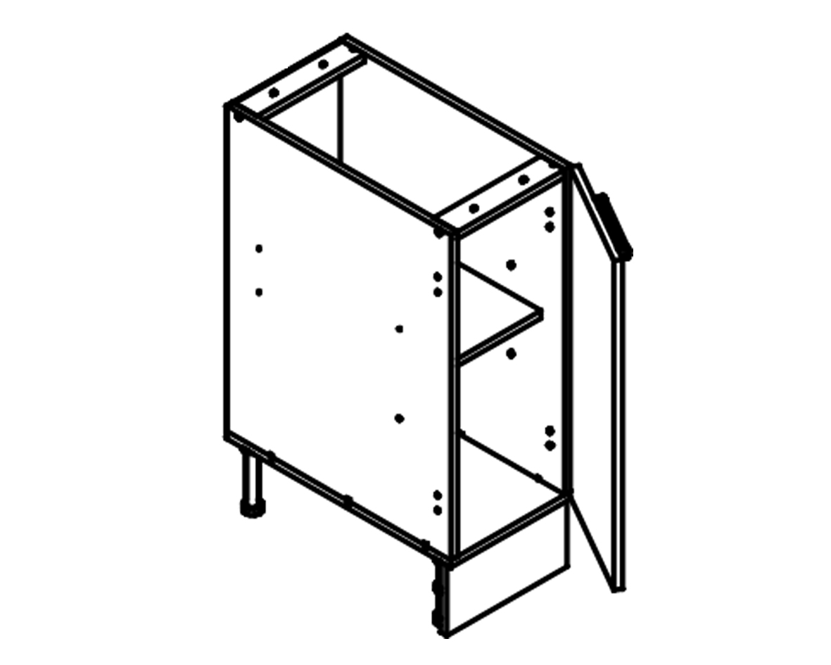Body Diagram for Base cabinet S30 for Kitchen