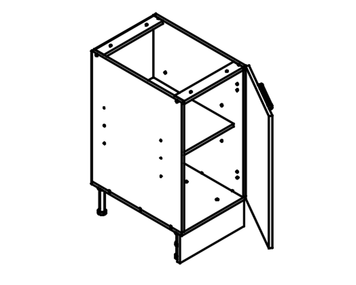 Body Diagram for Base cabinet S40 for Kitchen