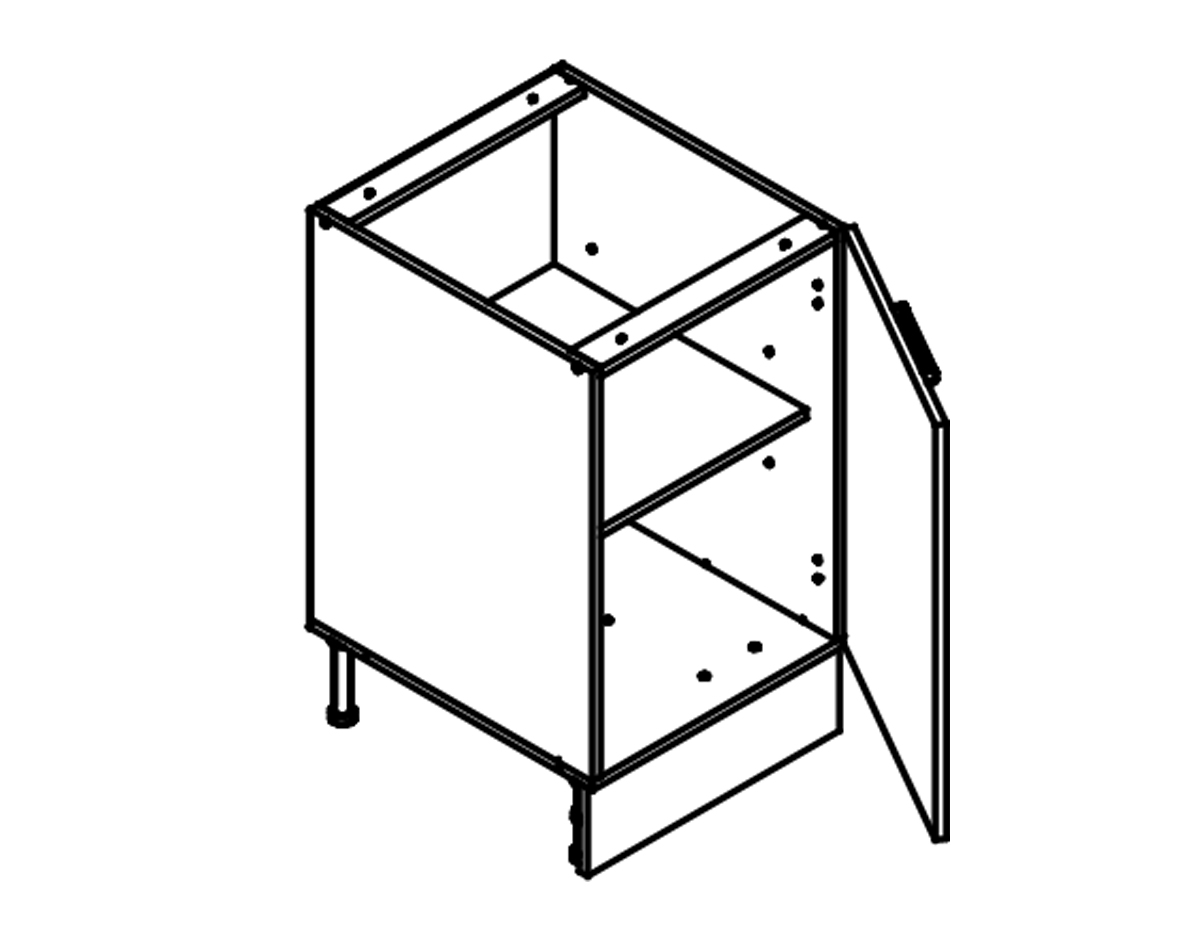 Body Diagram for Base cabinet S50 for Kitchen
