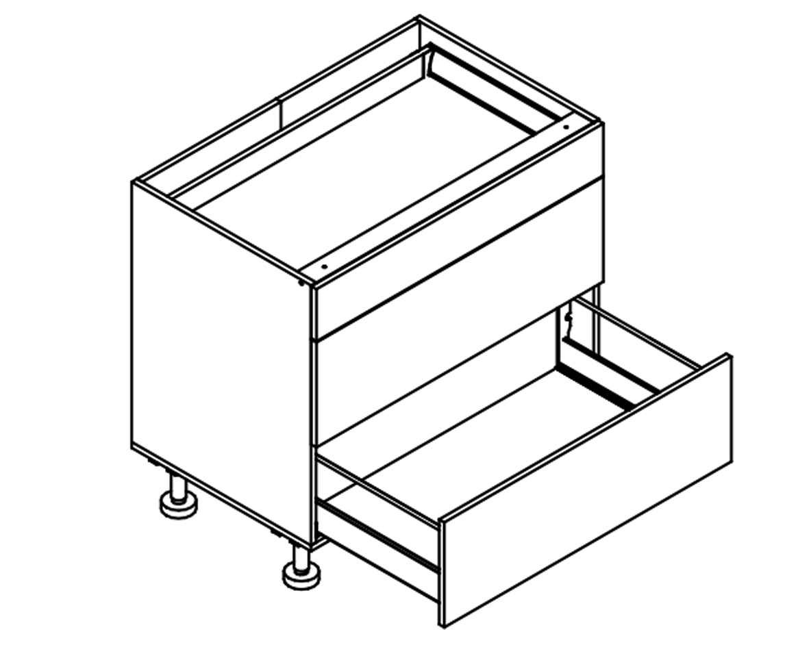 Body Diagram for Base drawer cabinet S90SZ3A for Kitchen