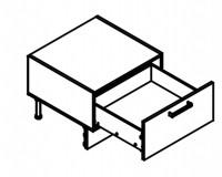 Body Diagram for Base Dishwasher Cabinet S60SZ1-442 for Kitchen