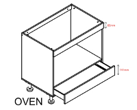 Body Diagram for Euro Base oven cabinet S90SZ1API