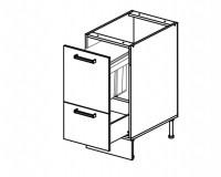 Body Diagram for Base rubbish bin cabinet S40SZ1A1KO for Kitchen