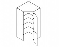 Body Diagram of Corner pantry S105/105/60/2D for Kitchen