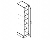 Body Diagram for Pantry S40PL/222/60/1D
