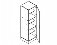 Body Diagram for Pantry S60/222/60/1D for Kitchen