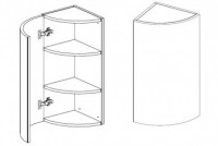 Body Diagram of  Wall cabinet W30 curved
