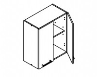 Body Diagram for Wall cabinet W60