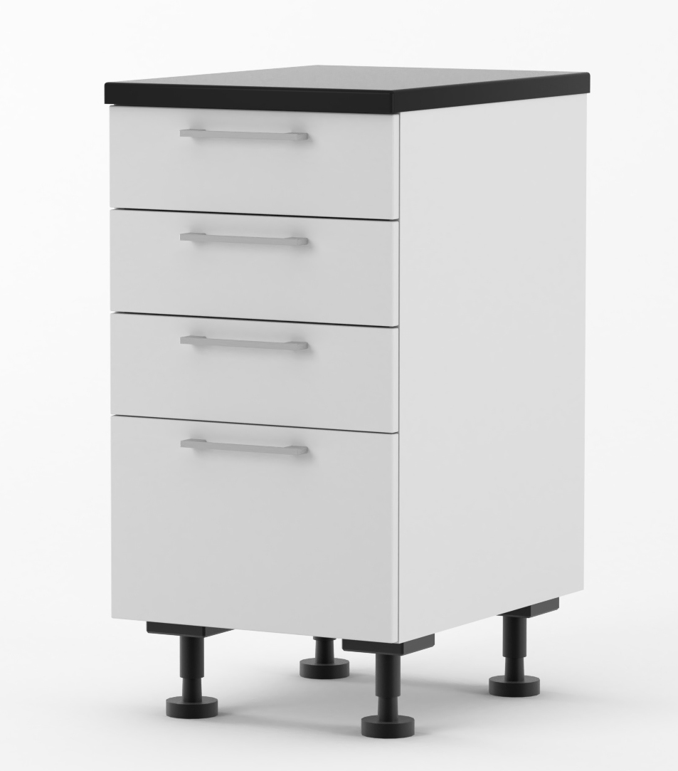 Milan - Doors for 450mm wide Four Drawer Base Cabinet ...
