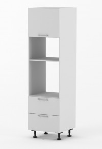 Milan - 600mm wide Single Oven Tower Cabinet with Two Drawers
