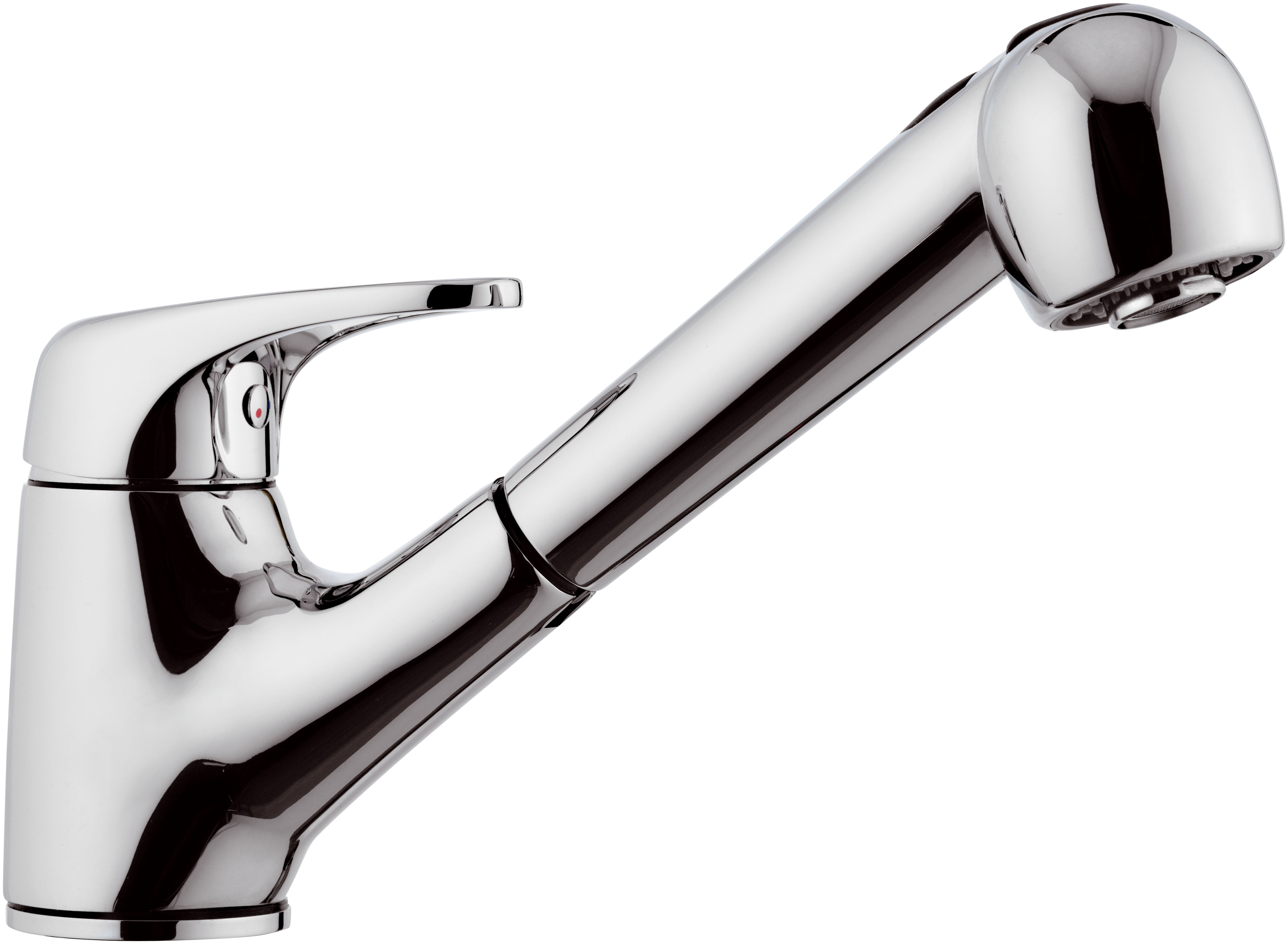 GAMA - Single lever sink mixer with pull-out shower - Chrome
