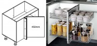 900mm Corner Cabinet with Show-Hand Corner Insert  - For Kitchen