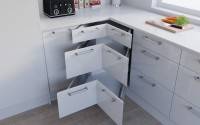 Corner Drawer Example - High Gloss White