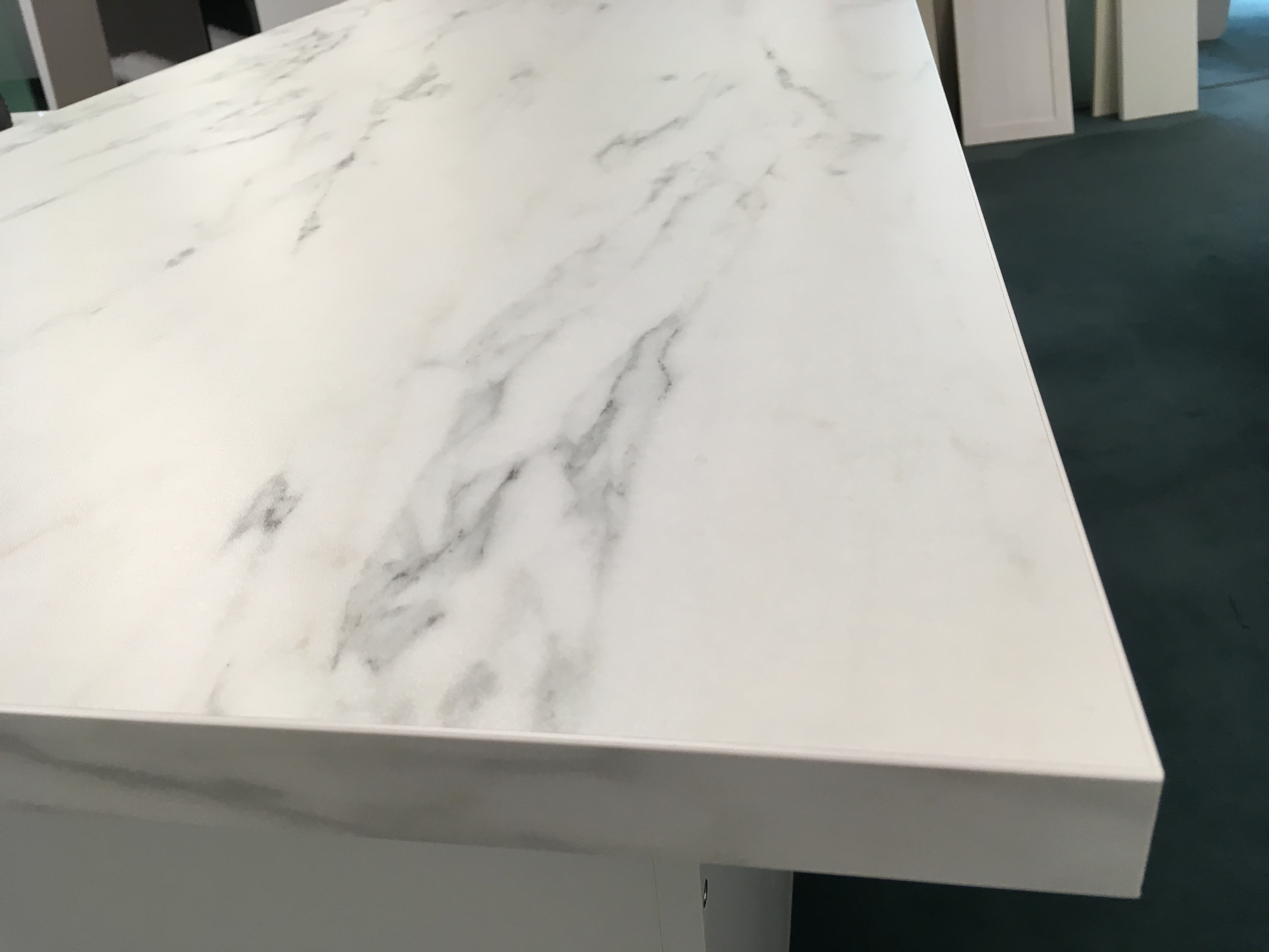 White Marble Standard Bench top Top View for Kitchen