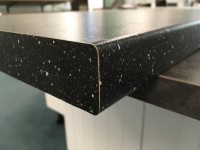 Black Mineral Standard Bench top Corner