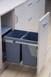 340mm Wide Rubbish Bin Insert For Base Cabinets JC602