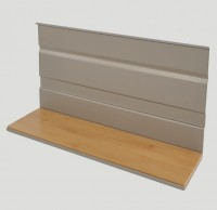 Flat Wooden Shelf Modular Shelf Section 350mm