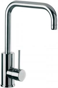 ALPHA - Single lever sink mixer with movable spout - Chrome