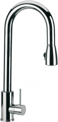 ZETA - Single lever sink mixer with high movable spout and with p