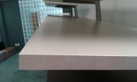 Light Charcoal Speckle Bench top Length View