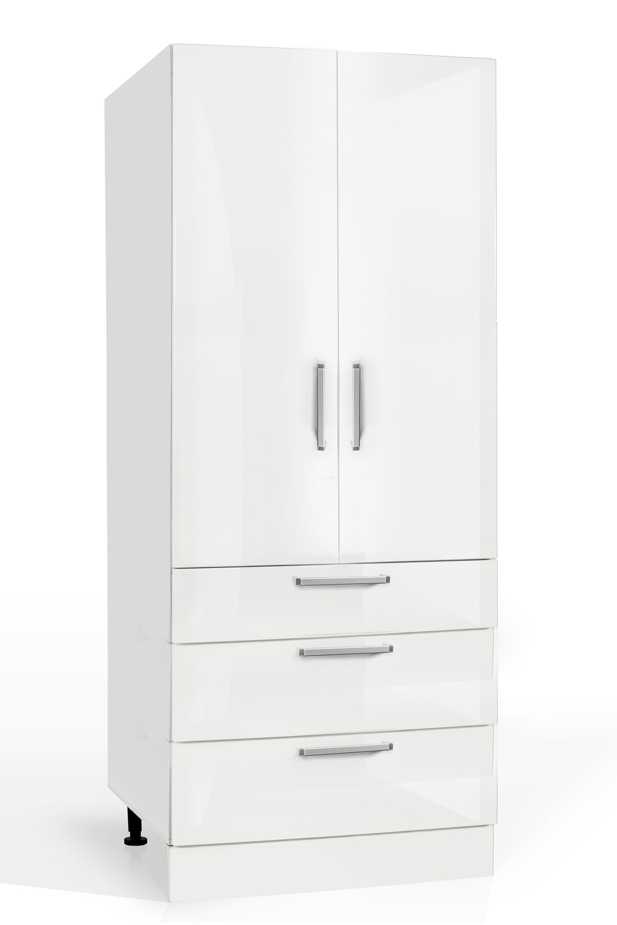 900mm Wide Pantry 2 Door With 3 Drawers Euro Kitchen Cabinets
